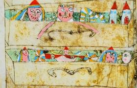 Il cassettone della nonna, tecnica mista su tavola, cm 100 x 70