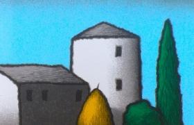 Alba, serigrafia su carta, cm 30 x 30