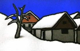 SENSI ARTE_Seconda neve, serigrafia su carta, cm 30 x 30
