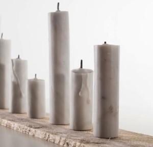 SENSI ARTE_Valeria VAccaro, candele, marmo bianco di carrara e inchiostri, misure varie, coutresy Isculpture copia