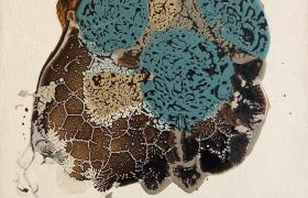 On my skinn, smalti industriali su tela, cm 30 x 30, CSTA_06
