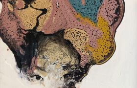 On my skinn, smalti industriali su tela, cm 30 x 30, CSTA_07