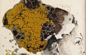 On my skinn, smalti industriali su tela, cm 30 x 30, CSTA_09
