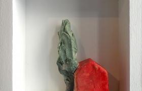 SENSI ARTE, Memorabilia: toscana rossa, ceramica raku, cm 20 x 20 x 5