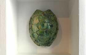 SENSI ARTE_Memorabilia: tartaruga, ceramica raku, cm 20 x 20 x 5