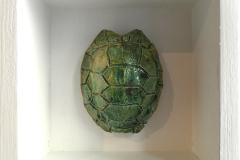 SENSI ARTE, Memorabilia: tartaruga, ceramica raku, cm 20 x 20 x 5