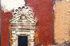SENSI ARTE, Architettura rosso, pittoscultura su tavola, cm 50 x 70_RGGA_95