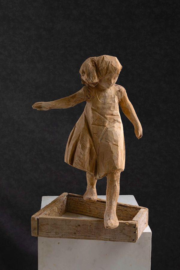 SENSI ARTE, Un pedacito de Agua, legno di platano, cm 40 x 64 x 34 + base, RBLF_18