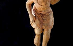 SENSI ARTE, Saltando, legno di ciliegio, cm 73 x 36 x 45 + base RBLF_20