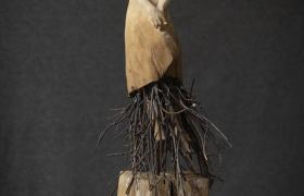 SENSI ARTE_Radici, legno di tiglio e ferro, cm 180 x 50 x 40