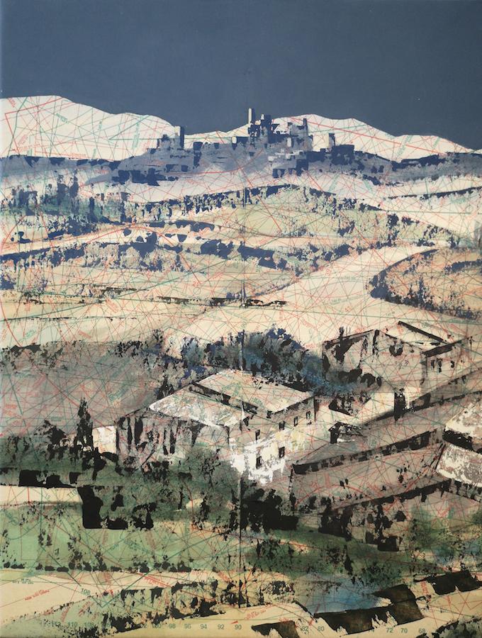 SENSI ARTE, Paper view, Tuscany 1 mista su cartamodello, cm 41 x 53