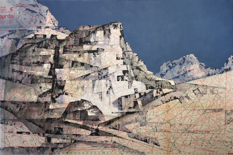 SENSI ARTE, Cava apuana, mista su cartamodello, cm 84 x 55