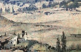 SENSI ARTE_Paper view, Tuscany 2 , mista su cartamodello, cm 41 x 53