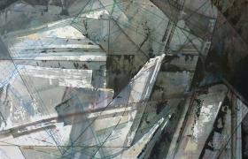 SENSI ARTE_Studio di cava 2, tecnica mista su carta intelaiata, 2016, cm 60 x 50, DSTG_22
