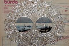 SENSI ARTE, Ex voto del seno, Sant'Agata, mista su cartamodello, cm 25 x 26