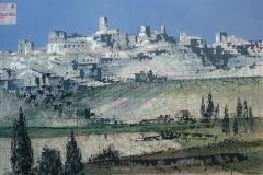 SENSIARTE, Paper view, Borgo, mista su cartamodello, cm 84 x 55