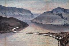 SENSI ARTE, The dusk at San Giorgio mountain, mista su cartamodello, cm 79 x 57