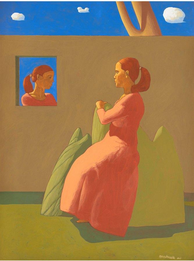 SENSI ARTE, Giardino segreto (V), tempera su tavola,  cm 57 x 75