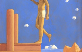 SENSI ARTE, Pontile XV,  tempera su tavola, cm 57 x 70_MNZM_120