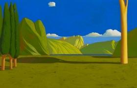 SENSI ARTE_Paesaggio ideale XXV, tempera su tavola cm 60 x 30