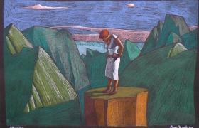 SENSI ARTE, Belvedere, mista su carta, cm 55 x 38 MNZM_110