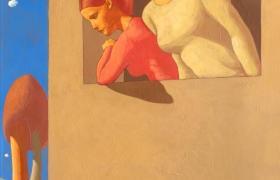 SENSI ARTE, Due sorelle, tempera su tavola, cm 70x110_MNZM_112