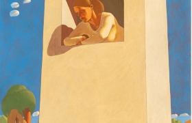 SENSI ARTE, Torre  d'avorio,  tempera su tavola, cm 130  x 105