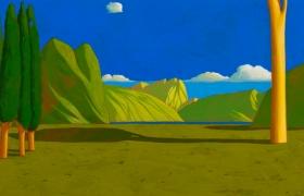 SENSIARTE_Paesaggio ideale XXV, tempera su tavola, cm 60 x 30