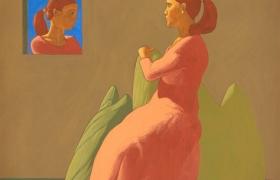 SENSI ARTE Giardino segreto (V), 2017, temp su tavola,  cm 57 x 75 MNZM_104