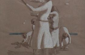 SENSI ARTE _Danzatrici, biro su carta  copia, cm 45 x 65, MNZM_1139