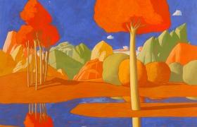 SENSI ARTE _Paesaggio ideale, tempera su tavola, cm 58 x 64
