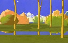 SENSI ARTE_Paesaggio ideale, tempera su tavola, cm 30 x 80