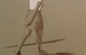 SENSI ARTE_Passeggiata, mista, biro su carta, cm 35 x 25, MNZM_1117