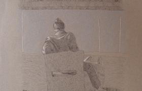SENSI ARTE_Porto, mista su carta, cm 55 x 37, MNZM_1122