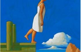 SENSI ARTE_Pontile XI, tempera su tavola, cm 30 x 25