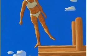 SENSI ARTE_Pontile XIII, tempera su tavola, cm 30 x 25