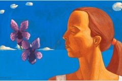 SENSI ARTE, Memoria di un aroma viola, tempera su tavola, cm 35 x 19,5