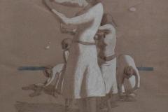 SENSI ARTE, Danzatrici, biro su carta  copia, cm 45 x 65, MNZM_1139