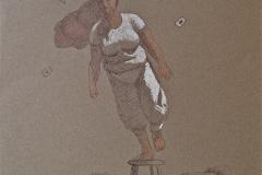 SENSI ARTE, Colpo di vento, mista su carta, cm 31 x 31