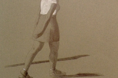 SENSI ARTE, Passeggiata, mista, biro su carta, cm 35 x 25, MNZM_1117