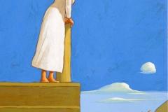 SENSI ARTE, Pontile IX, tempera su tavola, cm 30 x 25