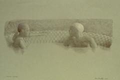 SENSI ARTE, L'incontro segreto, biro su carta, cm 51 x 32, MNZM_1142
