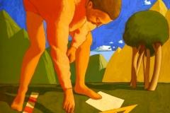 SENSI ARTE_Agrimensore, tempera su tavola, cm 72 x 86