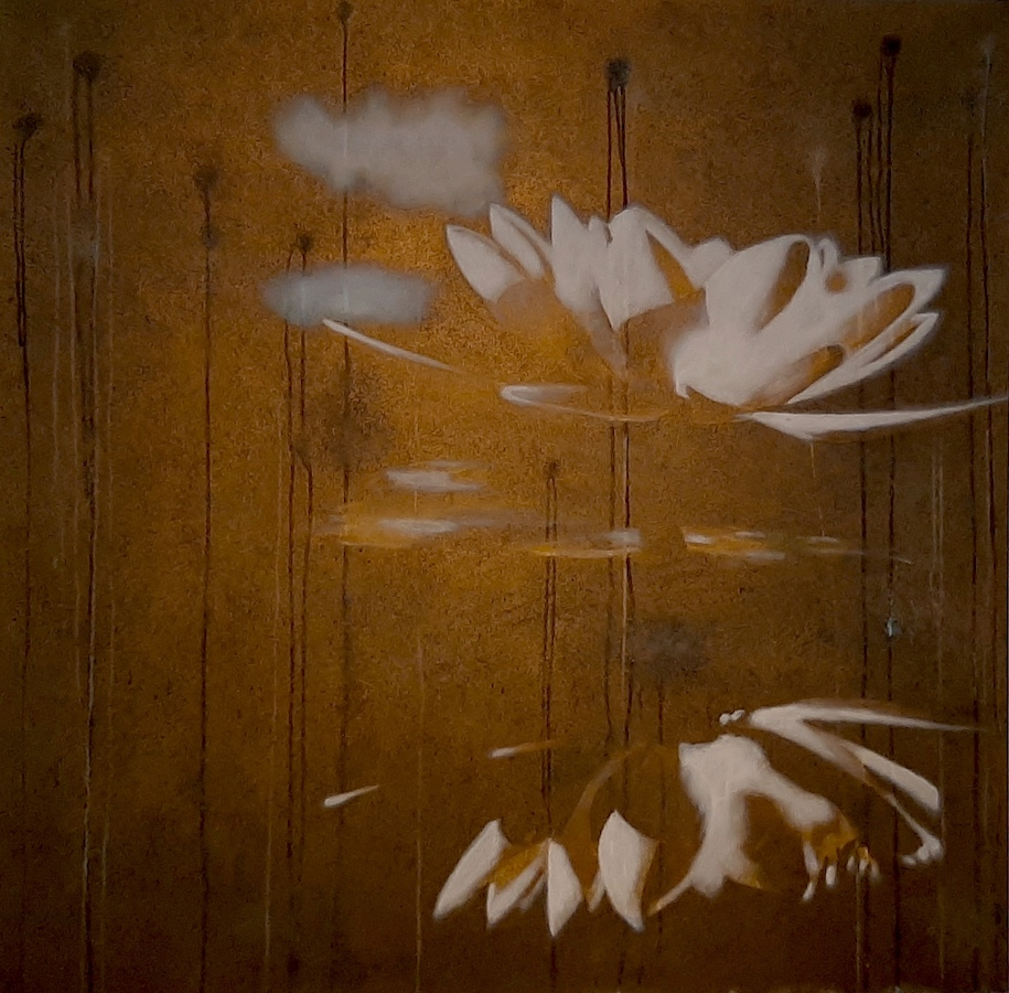 SENSI ARTE, Lotus, quando la luce,  acrilico su tela, cm 120 x 100, BRLM_17