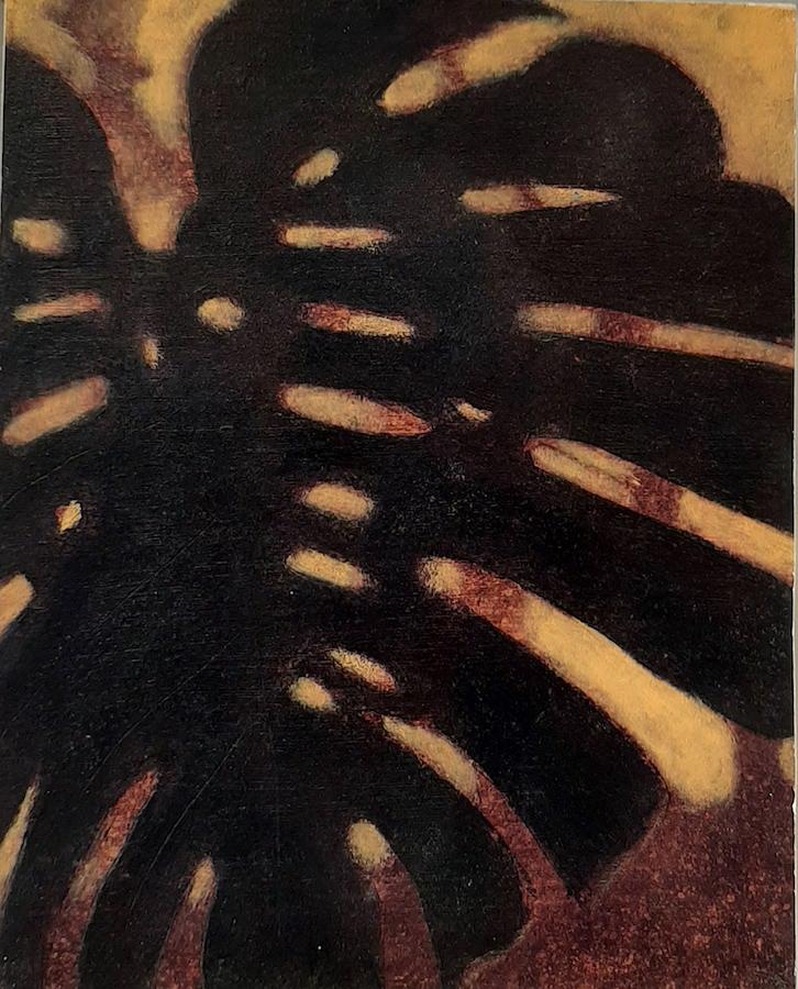 SENSI ARTE, Leaves Effect, acrilico su  cartonlegno, cm 25 x 20, BRLM_200