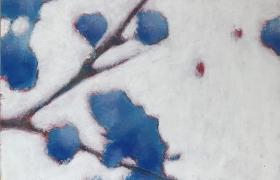 SENSI-ARTE_Fiorescenza blu, acrilico su cartonlegno, cm 25 x 20_BRLM_16