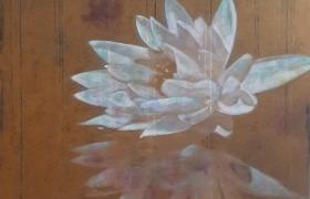 SENSI ARTE, Lotus, mi apro al mondo, acrilico su tela, cm 120 x 150, BRLM_18