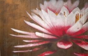 SENSI ARTE, Lotus, ascolta le mie emozioni, acrilico su tela, cm 120 x 120, BRLM_24