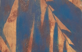 SENSI ARTE, Leaves Effect, acrilico su  cartonlegno, cm 25 x 20, BRLM_201