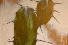 SENSI ARTE, Cactus, Essenthia,  acrilico su tela, cm 120 x 120, BRLM_16